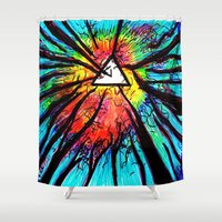 floyd Shower Curtains featuring Floyd Forest by TheSeed91