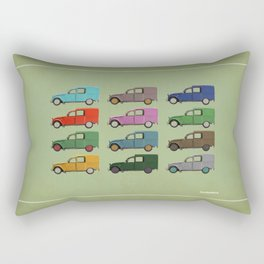 Five Fourgonnettes Rectangular Pillow
