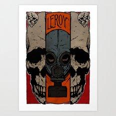 Split Skull Art Print