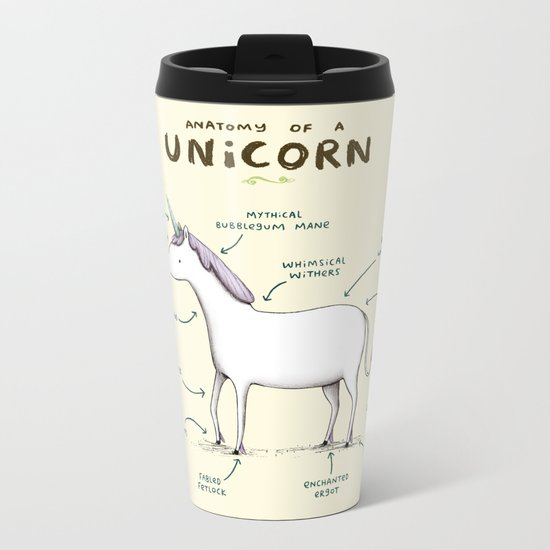 Anatomy of a Unicorn Metal Travel Mug