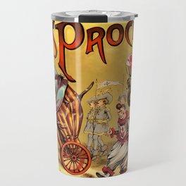 1888 Vintage Circus Elephant Procession Vintage Poster Travel Mug