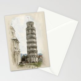 The Leaning Tower of Pisa Stationery Cards