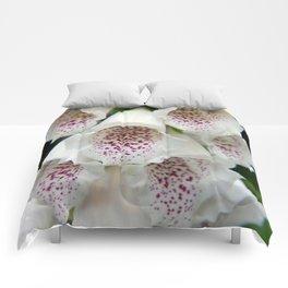 White Foxgloves - Garden Photography Comforters