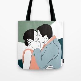 Lovers Kiss Tote Bag