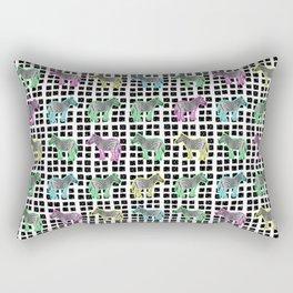 Cute and Colourful Zebra Pattern Rectangular Pillow