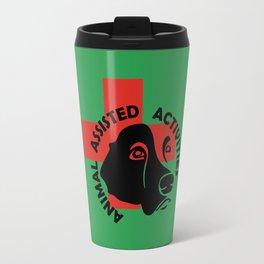 Animal Assisted Activities  - THERAPY DOG logo 7 Travel Mug