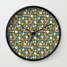 because breakfast is the most important meal Wall Clock