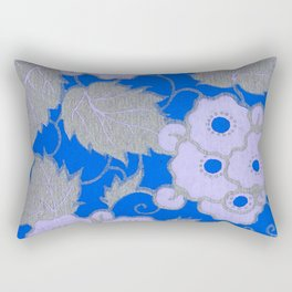 Royal Blue Blossoms Rectangular Pillow