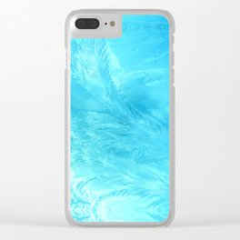 ice blue Clear iPhone Case