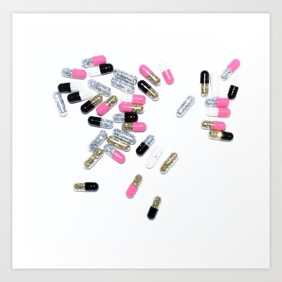 glitter pills Art Print