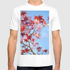 Autumn in December White Mens Fitted Tee MEDIUM