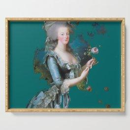 marie Antoinette teal Serving Tray