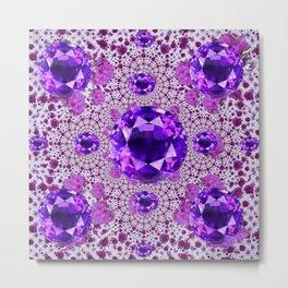 Amethyst Purple Gems February Birthstones Metal Print