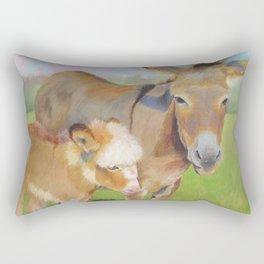 HOLLYHOCK AND PETUNIA Rectangular Pillow