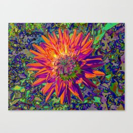 "Extreme Dahlia ""Weston Spanish Dancer"" Canvas Print"