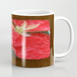 Mottled Red Poinsettia 1 Ephemeral Blank P3F0 Coffee Mug