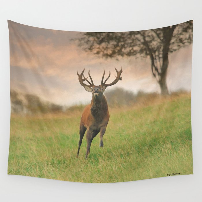 Charging Stag Wall Tapestry