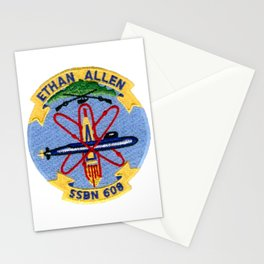 USS ETHAN ALLEN (SSBN-608) PATCH Stationery Cards