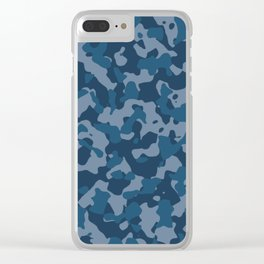 Camouflage Ocean Clear iPhone Case