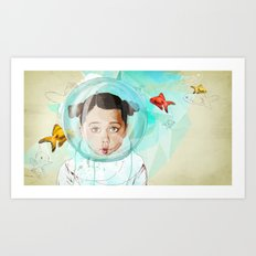 Fish Girl Art Print