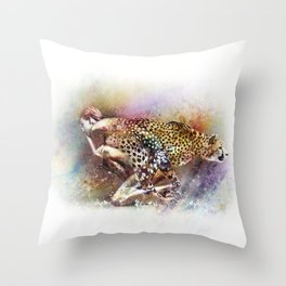 D'apparence sauvage Throw Pillow