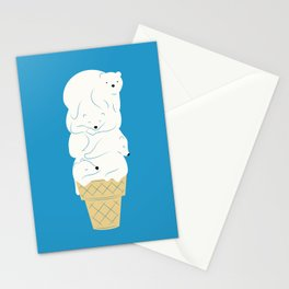 Polar Bear Ice Cream Stationery Cards