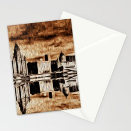 Liverpool Water front Skyline (Digital Art) Stationery Cards