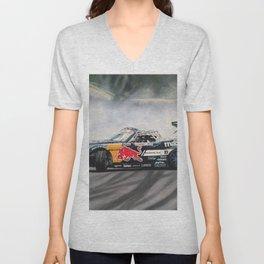 Mad Mike Drift Car Unisex V-Neck