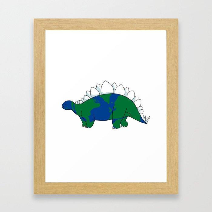Earth Steggy Framed Art Print