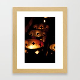 Lampion Framed Art Print