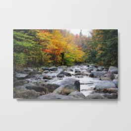 View of a Rocky Creek During Fall, Lost River, White Mountains, New Hampshire Metal Print