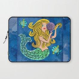 Storybook Golden Mermaid Laptop Sleeve