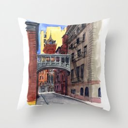 Staple Street Throw Pillow