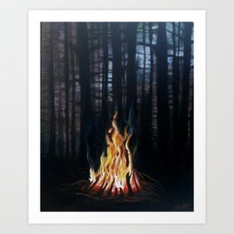 Campfie Strories Art Print