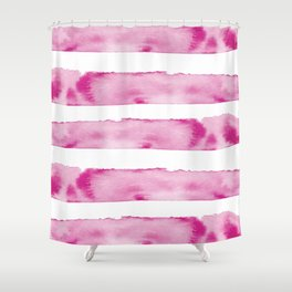 Melted Magenta Shower Curtain