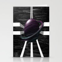 saturn Stationery Cards featuring Saturn by Isaak_Rodriguez