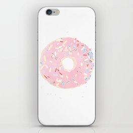pink donut iPhone Skin