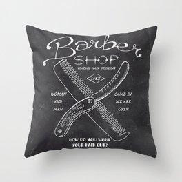 Barber Shop Throw Pillow