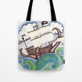 Pirate Peril Tote Bag
