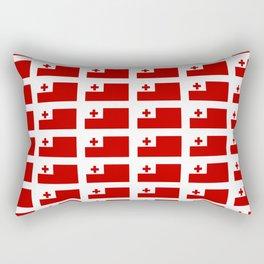 Flag of Tonga -Tonga,Tongatapu,Nukuʻalofa,Tongan,pa'anga,Vava'u, Ha'apai, Tongatapu. Rectangular Pillow