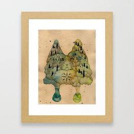 Rabbit Love Framed Art Print