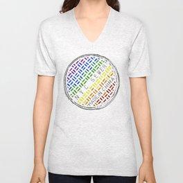New York City, Made in China - Rainbow Unisex V-Neck