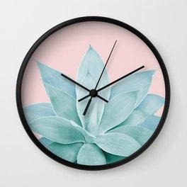 Blush Agave #4 #tropical #decor #art #society6 Wall Clock
