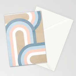 Retro Rainbow connections 4 Stationery Cards