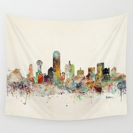 dallas texas skyline Wall Tapestry