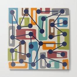 Mid Century Modern Atomic Nucleus Pattern 424 Metal Print
