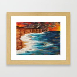 Moroccan Sea Spray Framed Art Print