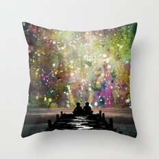 The Universe Was Ours Throw Pillow