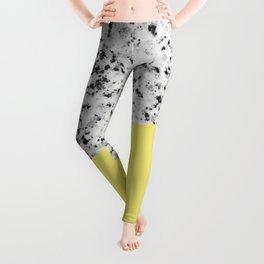 Granite and Banana Yellow Color Leggings