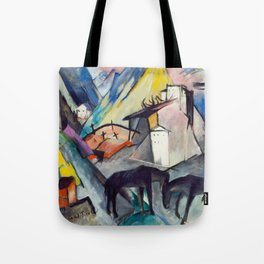 """Franz Marc """"The Unfortunate Land of Tyrol"""" Tote Bag"""